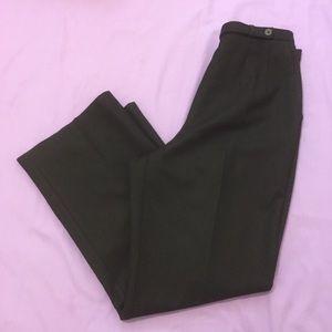 Women's Black Harve Benard Wool Pants - Size 12